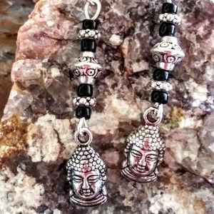 Buddha Face Boho Style Dangle Earrings